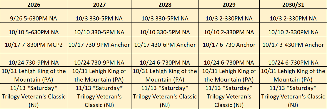 Fall 2021 NJ Youth Team Tourney_Practice Schedule