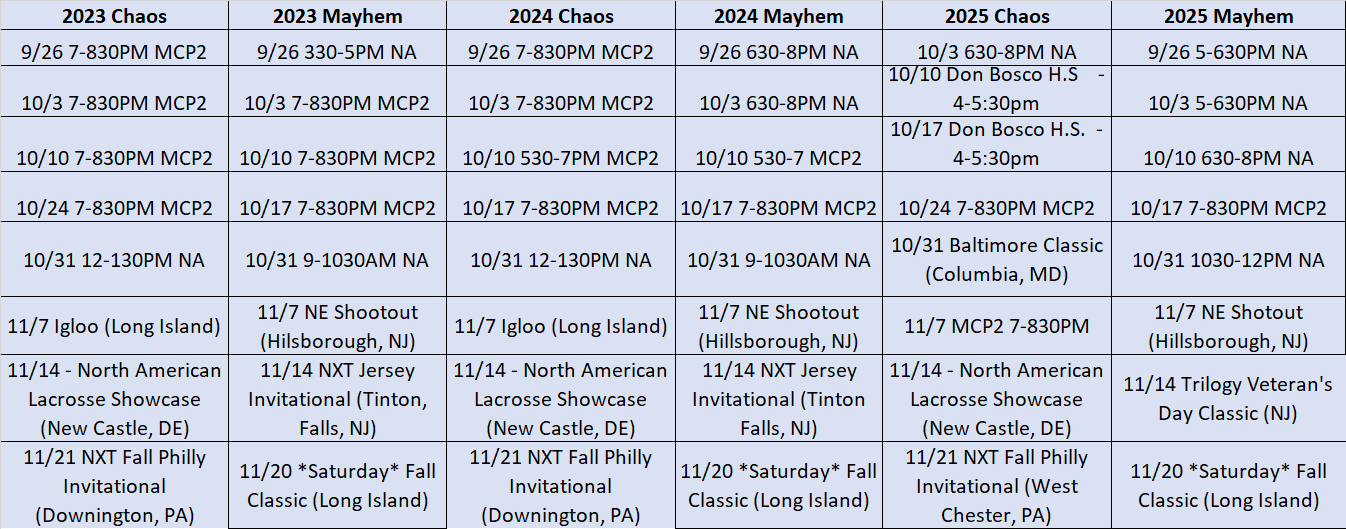 Fall 202 NJ HS Team Tourneys_Practice Sched_UPATATED 9_17_21